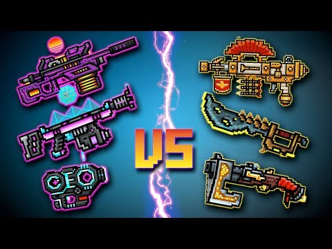 Time traveler set [VS] Digital Hero set - Pixel Gun 3D [pixel 3a]