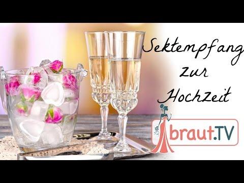 Sektempfang Ideen zur Hochzeit | Organisation & Inspiration | braut.TV