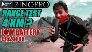 HUBSAN ZINO PRO | RANGE TEST 4 KM ? | LOW BATTERY | CRASH OR...!!!