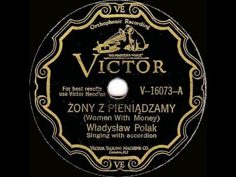 Polish 78rpm recordings, 1928. VICTOR V-16073 A/B. Żony z pieniądzamy / Rada sąsiada