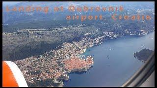 Landing at Dubrovnik airport DBV, Croatia
