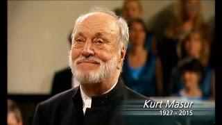Erinnerungen an den Dirigenten Kurt Masur 2015