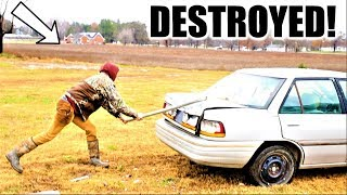 Skipped school and HE DESTROYS my NEW CAR!