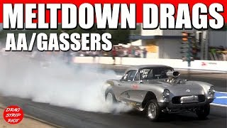 2017 Meltdown Drags ScottRods AA Gassers Drag Racing Cars  Video