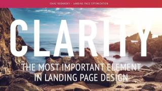 Conversion Rate Optimization: Clarity in Landing Page Design