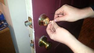 How to Pick a Front Door Lock Deadbolt EASY