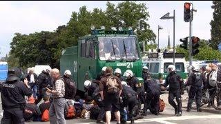 Demonstrations-Ausschreitungen Blockupy Frankfurt A.M. (Zusammenschnitt)