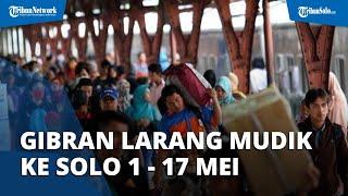 Resmi! Gibran Melarang Mudik ke Solo 1 Mei sampai 17 Mei 2021: Pelanggar Dikarantina 5 Hari