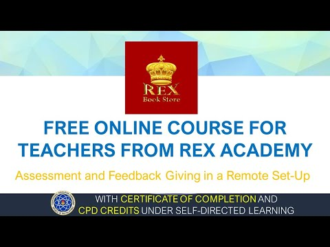 CPD CREDITS UNDER SELF-DIRECTED   FREE ONLINE COURSE FOR TEACHERS FROM REX ACADEMY