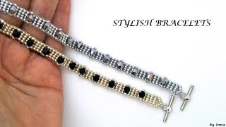 DIY 10 Minutes Stylish Bracelet.  Easy Beaded Bracelet Pattern