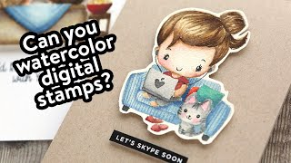 Watercoloring Digital Stamps (How To Get Them Onto Watercolor Paper)