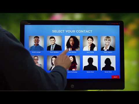 The Virtual Video Receptionist Notifies And Connects Directly Anyone In The  Organisation. Virtual Video Reception