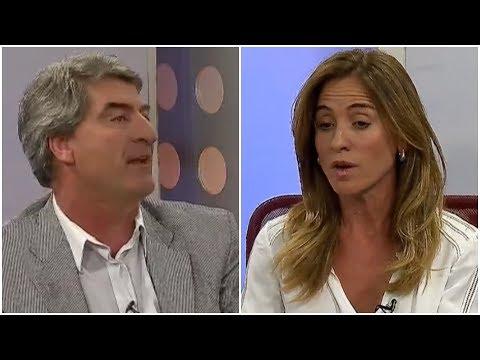 """VIDEO Javier Mor Roig y Victoria Tolosa Paz se trenzaron por la decisión de Garro de """"tapar"""" los adoquines"""