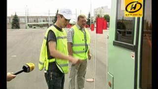 Гонки на троллейбусах устроили в Минске