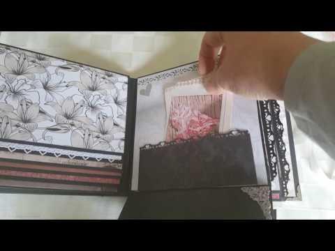 Scrapbook Mini Album zur Silberhochzeit