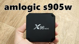 Tv box X96 mini на Amlogic S905W обзор и сравнение с приставками на RK3328
