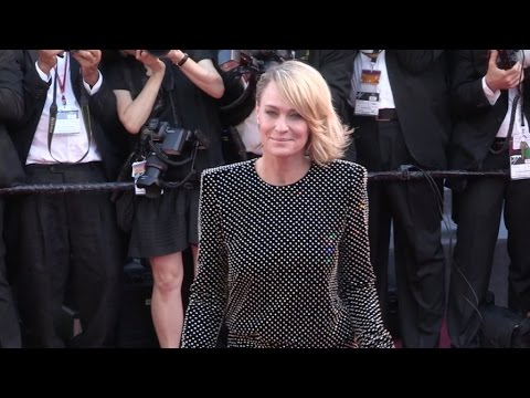 Robin Wright Penn on the red carpet for the Opening Ceremony of the 70th Cannes Film Festival