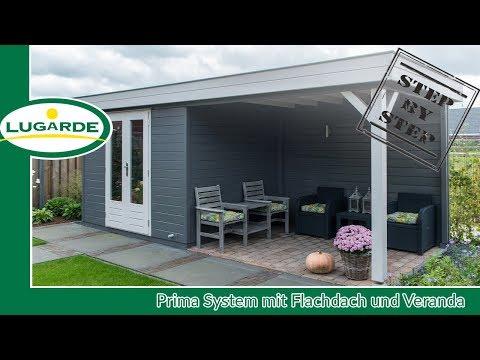 Gartenhaus bauen: Prima System mit Veranda | Lugarde