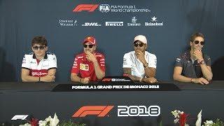 2018 Monaco Grand Prix: Pre-Race Press Conference