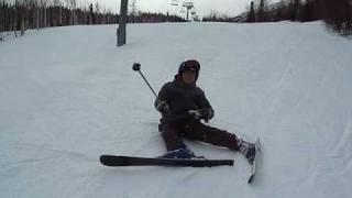 高宗第一次滑雪精彩鏡頭XD