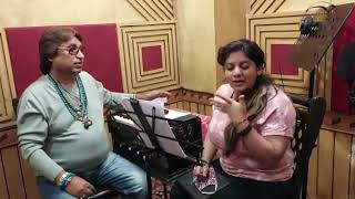 Music director Dilip sen with singer Tarannum Malik ji