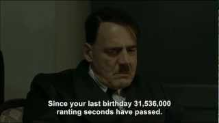Hitler gets bad news on his birthday