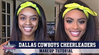 Makeup Tutorial From Dallas Cowboys Cheerleader | Dallas Cowboys 2020