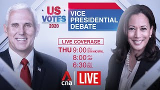 US election 2020: Vice presidential debate between Mike Pence and Kamala Harris
