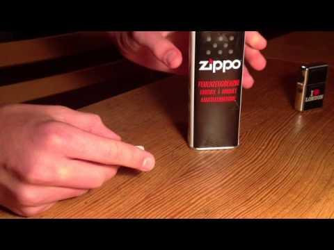 Benzinfeuerzeug nachfüllen - Zippo auffüllen