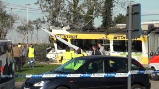 preview picture of video 'Ontsporing Kusttram in Nieuwpoort'