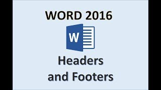 Word 2016 - Header and Footer Tutorial - How To Create and Remove Headers & Footers in MS Office 365