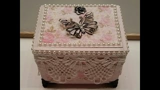 Altered Cigar Box - Elegant Jewelry Box