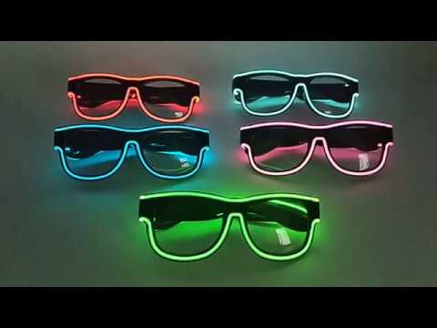 New Style USB Charging EL Wire Glasses with Logo Printed