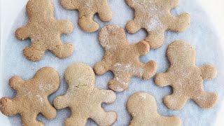 Vegan Gingerbread Men Christmas Recipe | Gluten Free + Oil Free