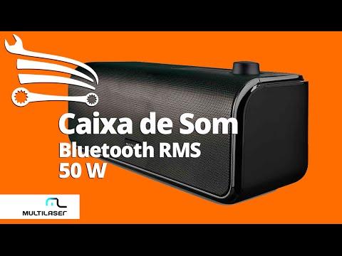 Caixa de Som Bluetooth Top Sound de 50w Rms  - Video