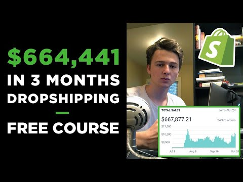Free Dropshipping Course | $664,441 in 3 Months With ONE Product