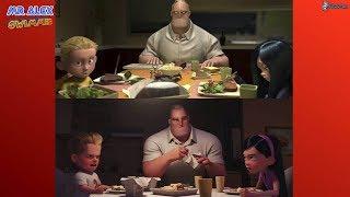 Comparación Los increíbles y LOS INCREIBLES 2 Trailer 2 Español (2018 Olympics Sneak Peek)