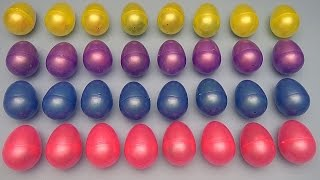 Learn Colours with a Huge Collection of Surprise Eggs!