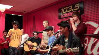 The Wanted In 103.5 KISS FM's Coca-Cola Lounge