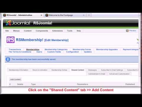 Ep. 36 - How to restrict with RSMembership! Joomla! sections to paid subscribers