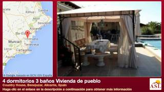 preview picture of video '4 dormitorios 3 baños Vivienda de pueblo se Vende en Country House, Benejuzar, Alicante, Spain'