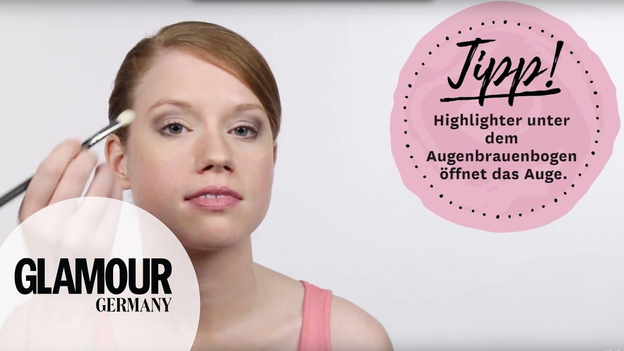 Schlupflider richtig schminken/kaschieren I How to: Augen größer schminken I GLAMOUR Beauty Tutorial