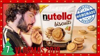 NUTELLA BISCUITS  fatti in casa | Cucina Buttata - VLOGMAS 2019 #7