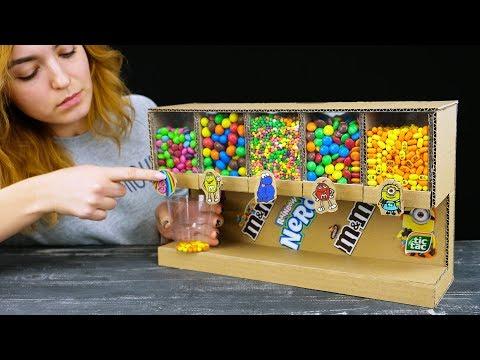 Så enkelt lager du din egen godteridispenser