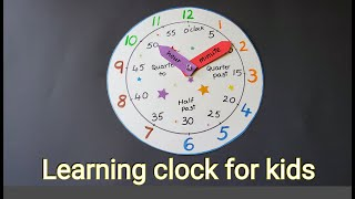 DIY Learning clock   Teach child to read time in an easy way