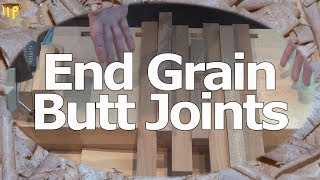 End Grain Butt Joint Tips - reinforncing, and using up off-cuts
