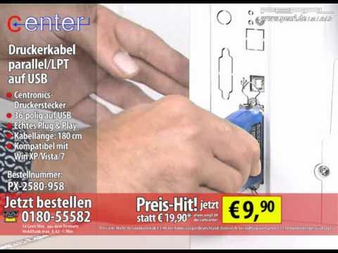 c-enter Druckerkabel parallel/LPT auf USB