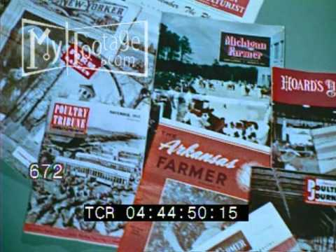 1953 Montage of Various Magazines Advertising