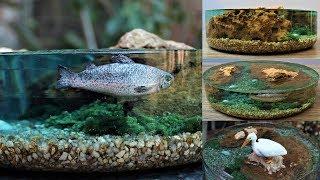 How To Make A Miniature Fish Pond Diorama   Resin Art