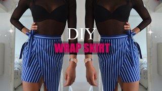 DIY   How To Make A Asymmetrical Wrap Skirt (pattern Available)